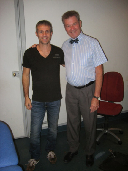 Alain Sémont con Sergi Lucas