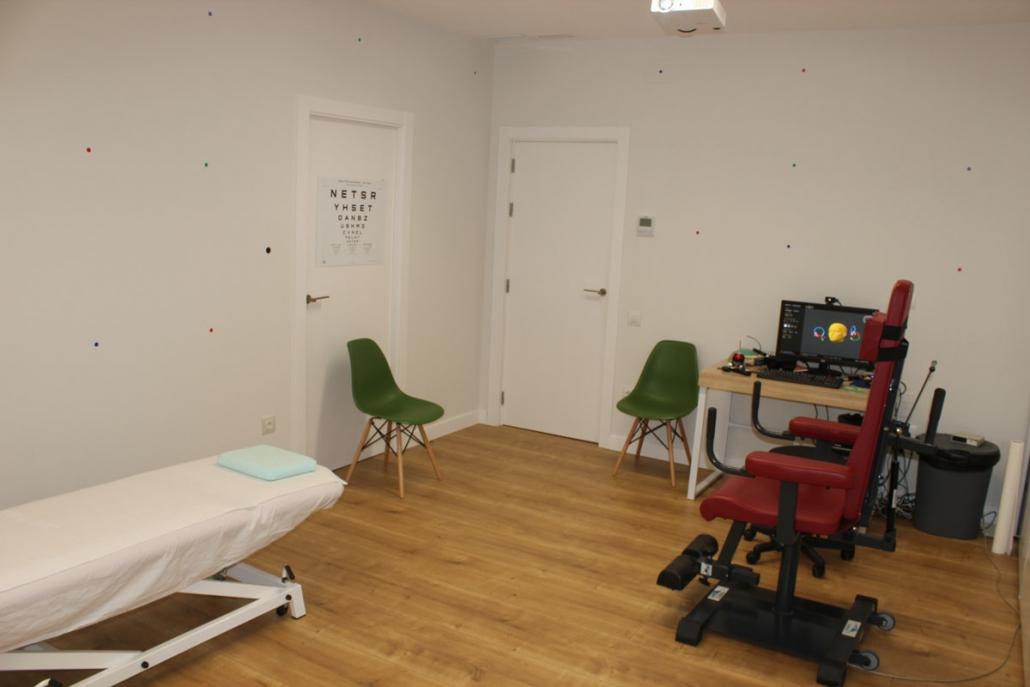 Sala de tratamiento del vértigo y el equilibrio
